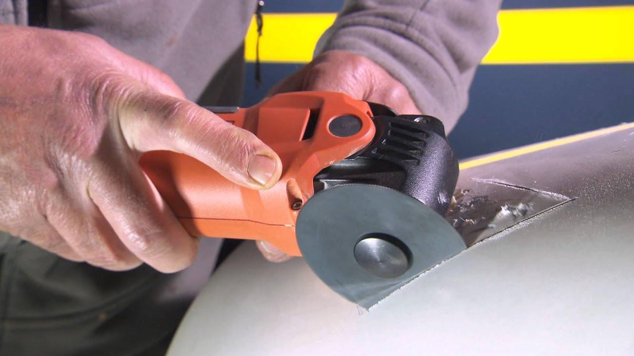 FEIN MultiMaster Oscillating Tool & Fiberglass Sawing