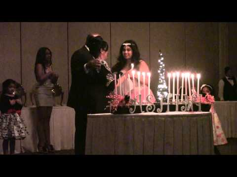 Ashini's party lighting candles 2