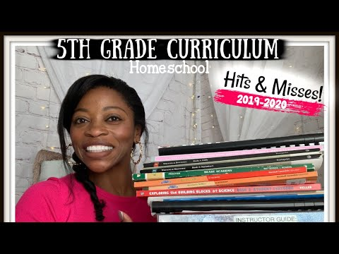 END OF THE YEAR 5TH GRADE CURRICULUM | 2019-2020 | HITS & MISSES