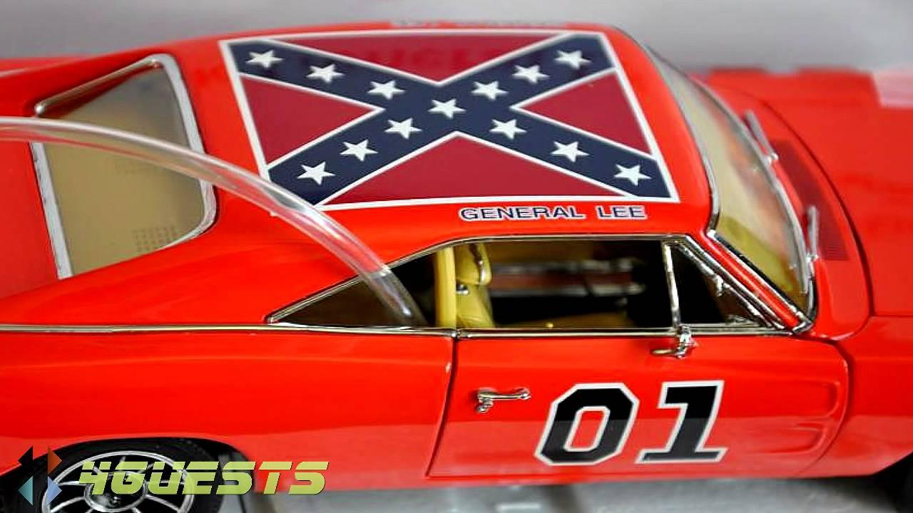 General Lee Car Danbury Mint Diecast Model 1 24 Scale