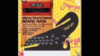 Board Storage Rack - Snowboard Skateboard Wakeboard Wall Display And Storage Rack Reusable No Screws