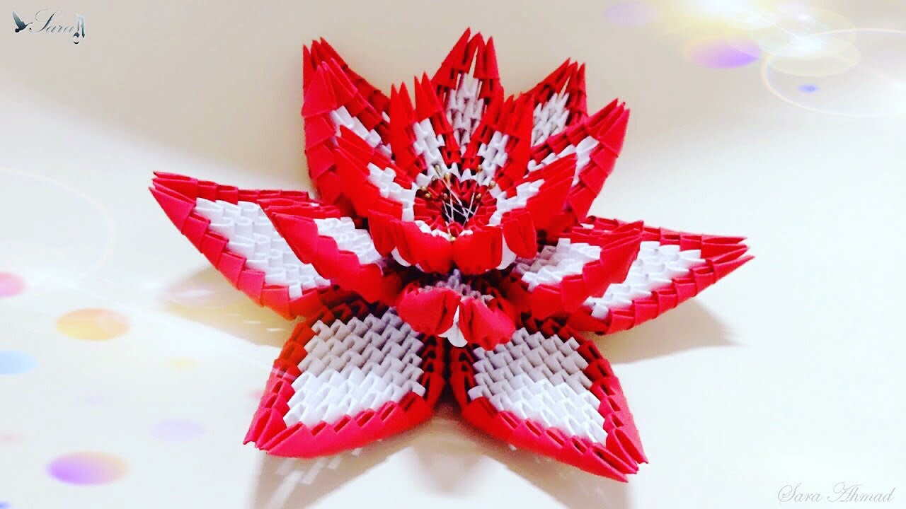 How to make 3d origami small basket with flower - YouTube | 720x1280