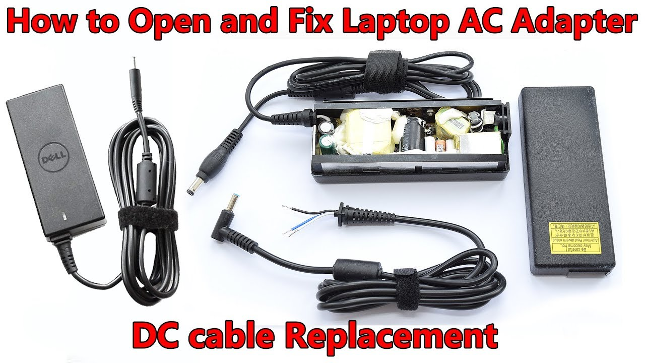 Open and Fix Laptop AC Adapter without Damaging. DC cable and Capacitors Ac Adapter Wiring on