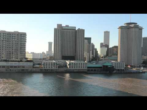 Departing the Port of New Orleans on the Norwegian Dawn