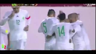 الجزائر تنزانيا  - لقطة ياسين براهيمي الرائعة + هدف  رياض محرز  - تعليــــق حفيــــــظ دراجــــــي