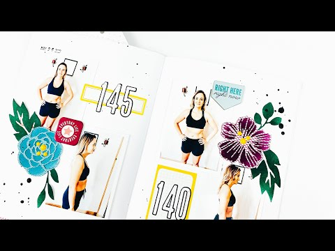 A5 Layout | Fitness Check-In | Freckled Fawn