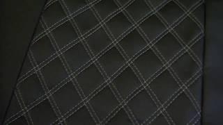 видео Чехлы для Лада Гранта (ЭКОкожа + перфорация) чёрный