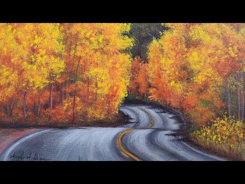 Autumn Roadway Acrylic Painting LIVE Tutorial thumbnail