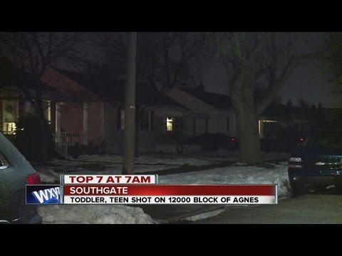 Toddler, teen shot Sunday night in Southgate