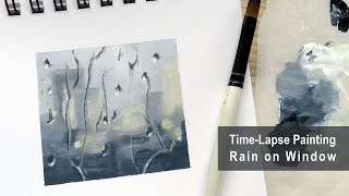 Painting rain on a window - Time-Lapse