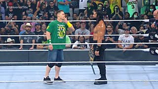 John Cena Returns & Confronts Roman Reigns At Money Inthe Bank 2021 - Roman Reigns Vs Edge MITB 2021
