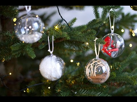 Diy boules de no l 100 maison youtube - Comment decorer des boules de noel transparentes ...