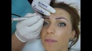 Tatuaj sprancene make up artist video Zarescu Dan Clinica Slimart micropigmentare sprancene
