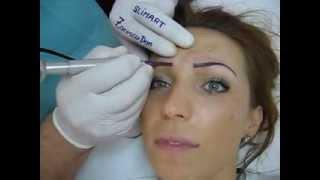 Tatuaj sprancene make up artist video Zarescu Dan Clinica Slimart micropigmentare sprancene