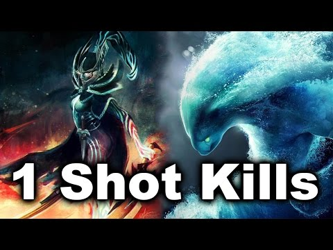 1 Shot Kills - Dendi Imba Crits and Aui_2000 Morph vs RTZ Dota 2