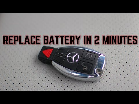 Mercedes benz key fob battery change youtube for Mercedes benz key battery