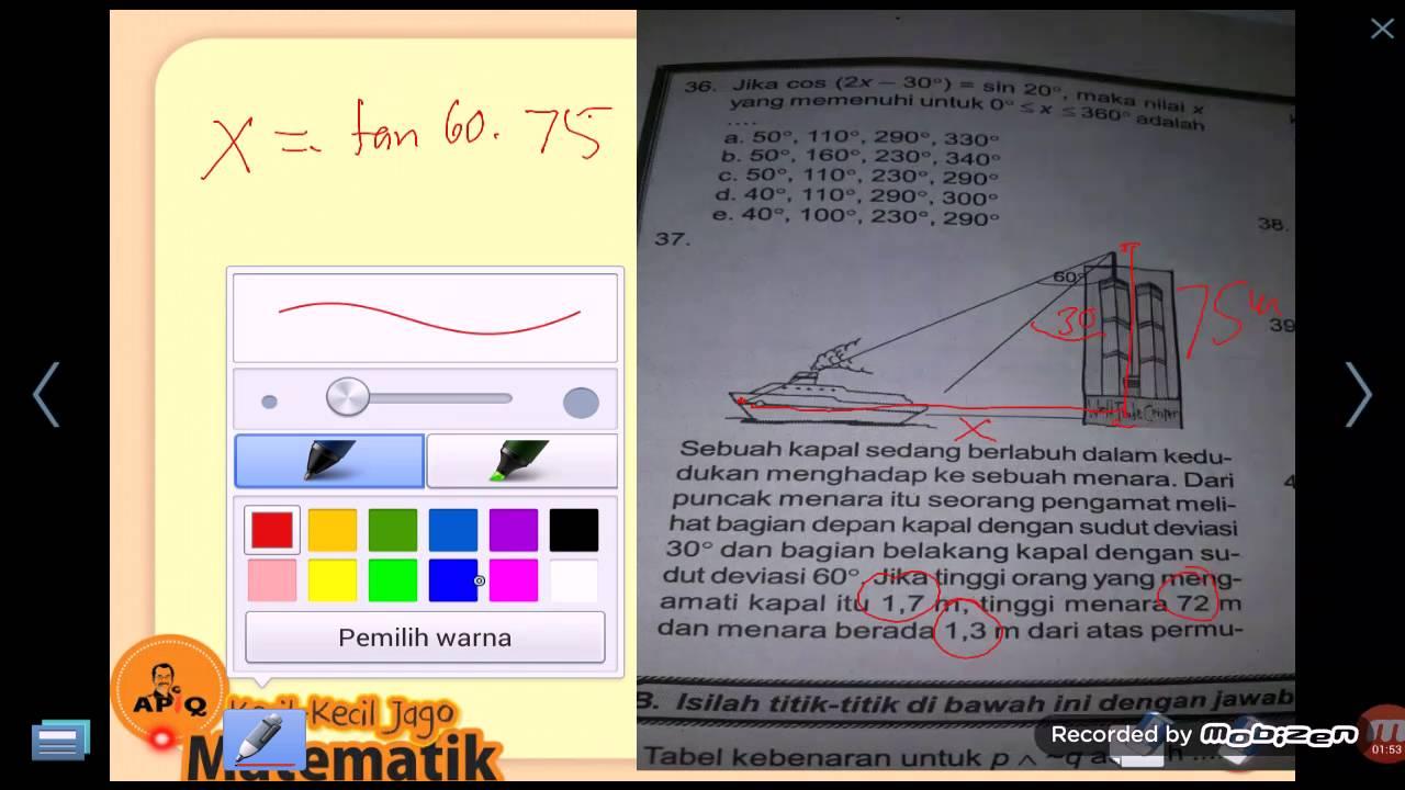 Contoh Soal Cerita Trigonometri Dalam Kehidupan Sehari Hari Terbaru 2019