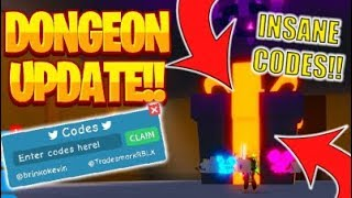 NEW DUNGEON UPDATE + 3 NEW CODES UNBOXING SIMULATOR! (Roblox)