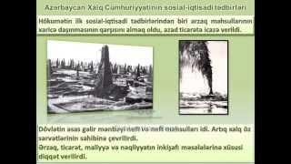 Azərbaycan Xalq Cümhuriyyətinin yaranması və fəaliyyəti