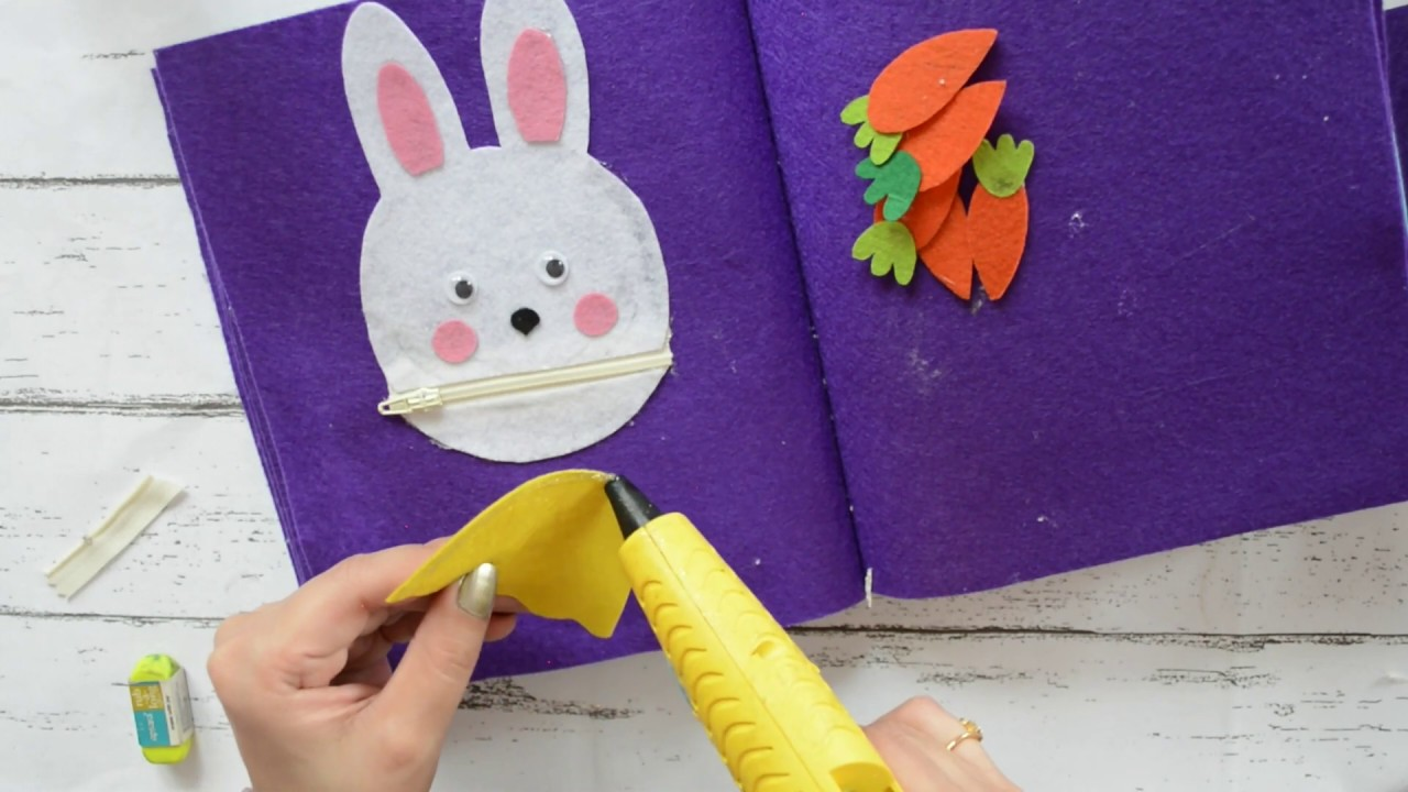 Rabbit Puzzle Felt Quiet Book Page