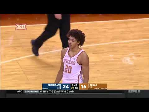 Michigan vs. Texas Men's Basketball Highlights