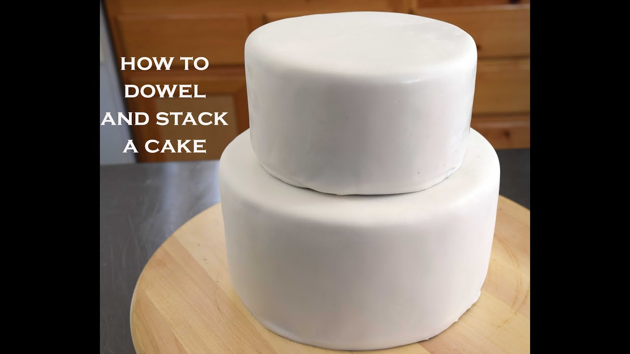 how to make a 2 tier stacked wedding cake how to dowel and stack cakes simple tips for a cake 15771