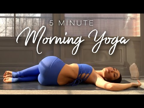 5 Minute Morning Yoga Flow for Beginners - YouTube
