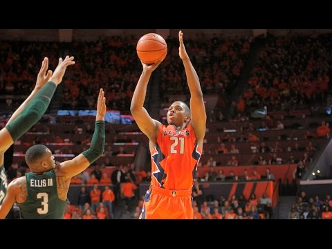 Illinois Basketball Highlights vs Michigan State | 3/1/17