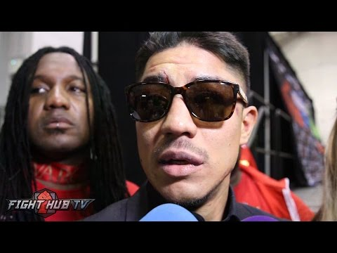Jessie Vargas's immediate post fight reaction to unanimous decision loss to Manny Pacquiao
