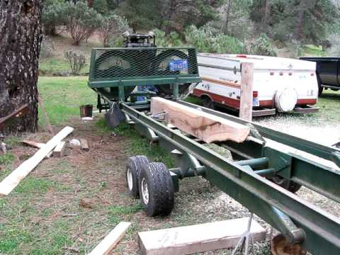 Bandsaw Mill For Sale >> Homemade Bandmill - Milling Valley Oak - YouTube