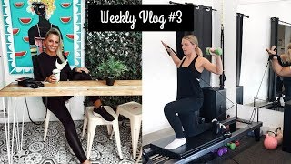 PILATES 8 WEEK CHALLENGE, PREGNANCY + LEARNING TO COOK | WEEKLY VLOG #3