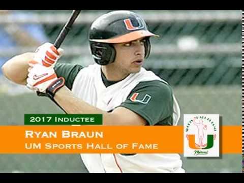 Ryan Braun University Of Miami Sports Hall Of Fame Youtube