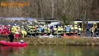 Zugunfall Bad Aibling - Rettungseinsatz (NonstopNews) / 9.2.2016