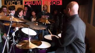 Nathaniel Townsley at Vics Drum Shop - part 1