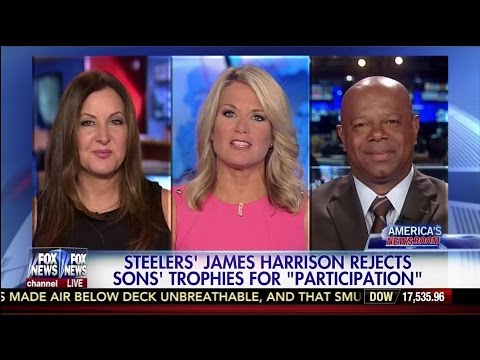 """Steelers' James Harrison Rejects Sons' Trophies for """"Participation"""" - David Webb"""