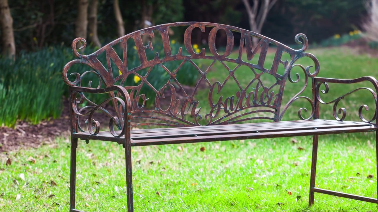 metal indoor-outdoor benches for 2017 from cape craftsmen - youtube