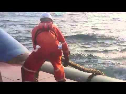 Anchor handling Training recover buoy