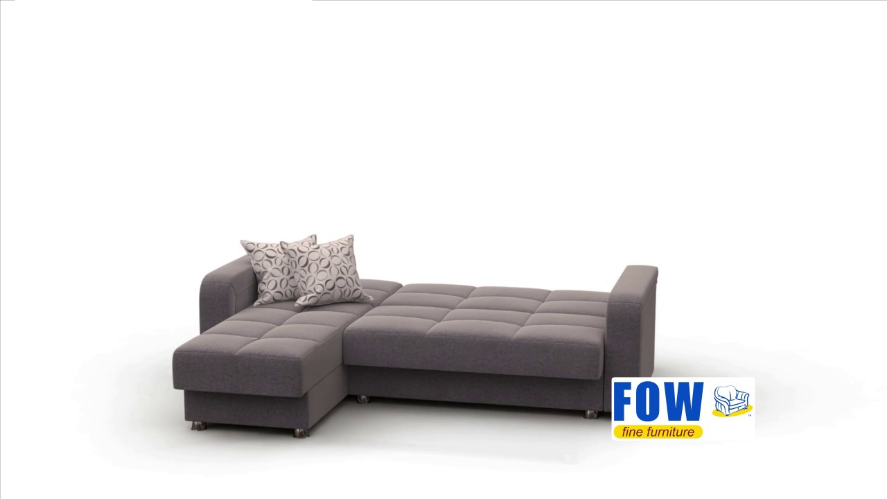 King Size Click Clack Sectional With Storage. FOW