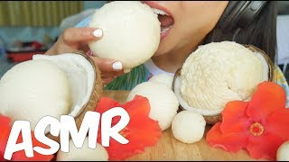 ASMR จาวมะพร้าว COCONUT PULP (Fluffy Soft CRUNCHY EATING SOUNDS) NO TALKING | SAS-ASMR