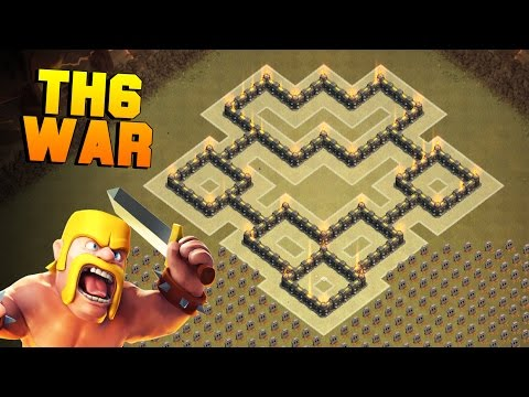 Clash Of Clans | BEST TH6 War Base | New Town Hall 6 Defense Base Layout [CoC TH6]
