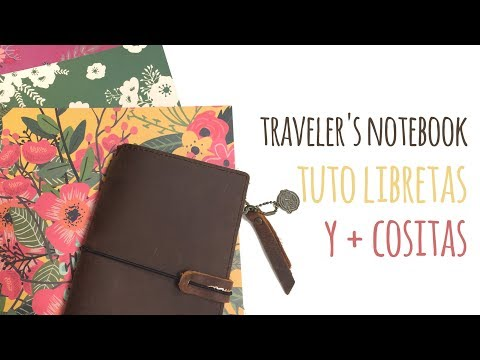 Cómo crear libretas para Traveler's Notebook sin grapadora – TUTORIAL Scrapbook