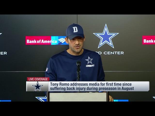 Tony Romo on Dak Prescott & 2016 Cowboys (Full Press Conference) | NFL
