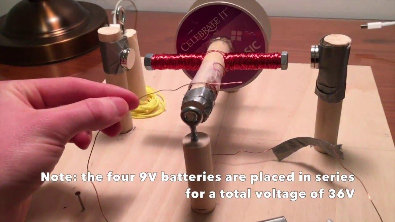 electric motor physics. Powerful Homemade Electric Motor (Physics Explained) Physics
