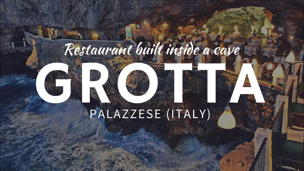 Breathtaking RESTAURANT Carved Inside A Cave Grotta Palazzese - Restaurant built inside a cave in italy offers beautiful views as you dine