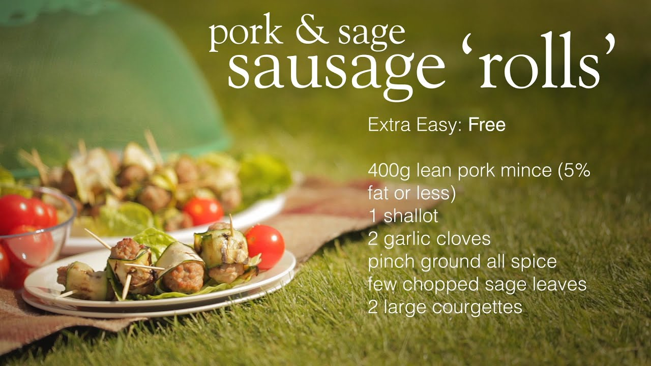 Slimming world pork and sage sausage 39 rolls 39 youtube Slimming world slimming world