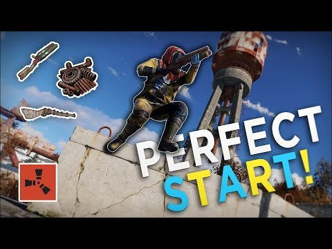 The PERFECT START to my BEST WIPE EVER! - Rust Solo Survival #1