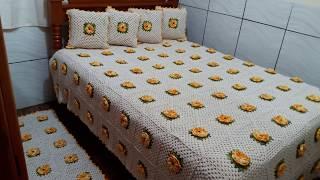 Colcha Casal de Crochê Luxuosa