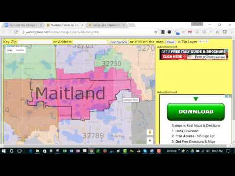 Useful Zip Code Map For Winter Park Orlando Florida Area   No Personal Information In This Video