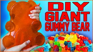 DIY GIANT Gummy Bear! | Make Your Own GIANT Gummy Bear Candy!