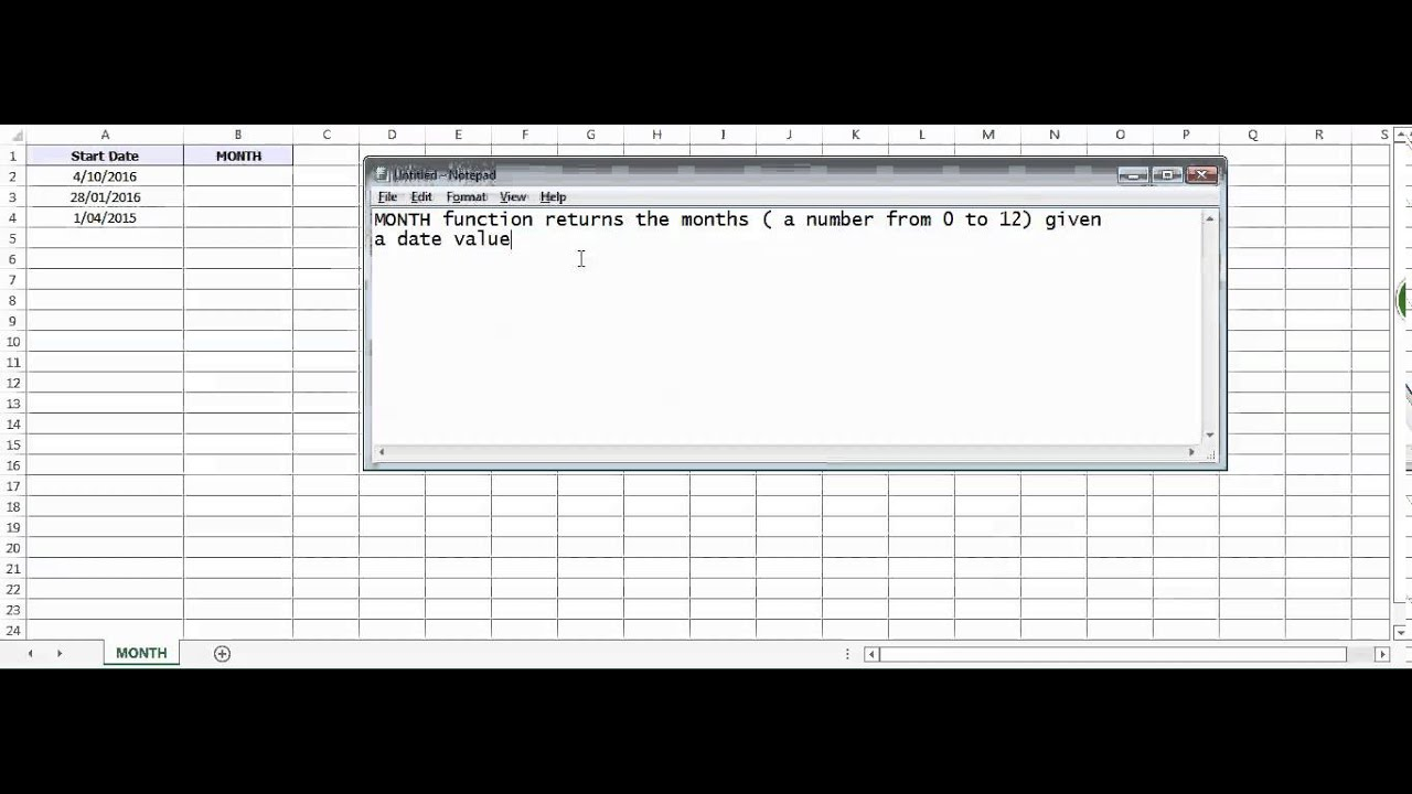 Excel month function how to use month function youtube excel month function how to use month function ibookread Download
